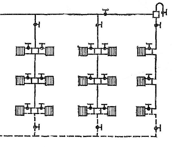Однотрубная верхняя схема с