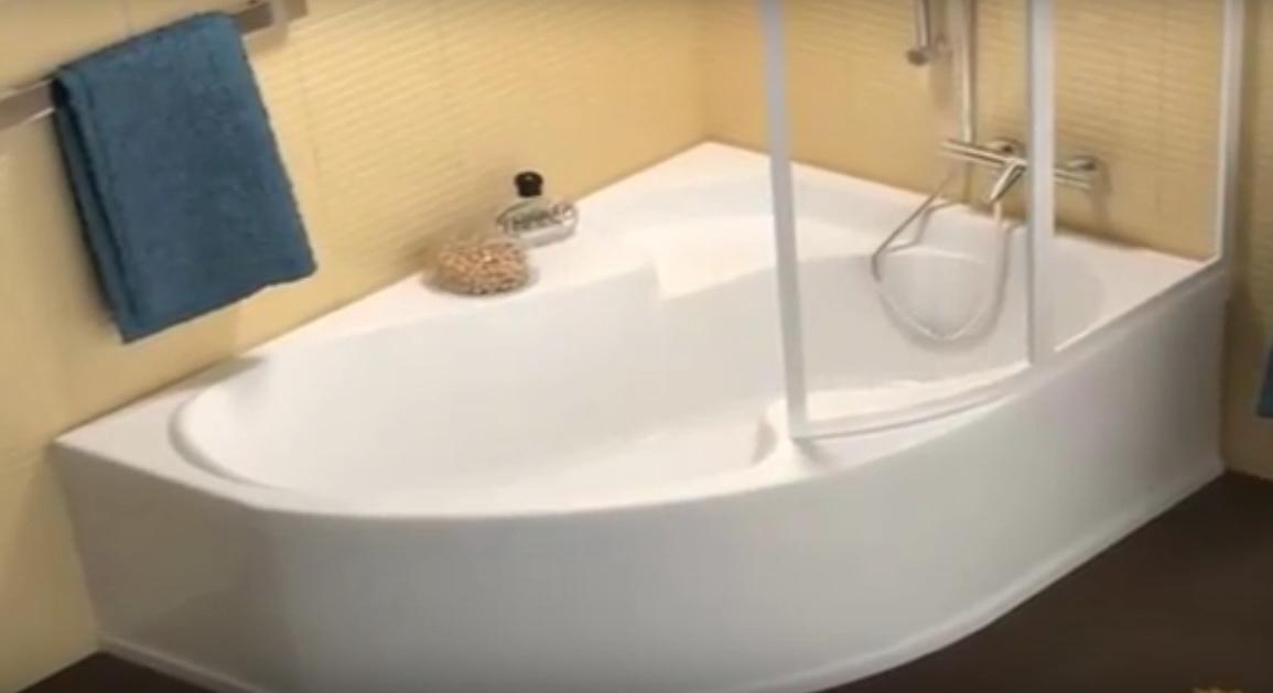 Ванна акриловая угловая асимметричная